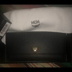 Gentle Used Authentic Black  leather MCM wallet